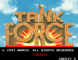 Box artwork for Tank Force.