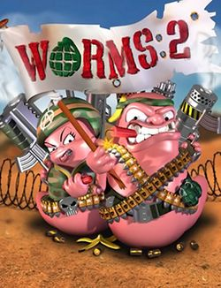 Box artwork for Worms 2.