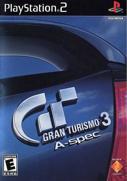Box artwork for Gran Turismo 3: A-Spec.