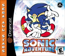 Box artwork for Sonic Adventure.