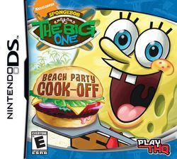 Box artwork for SpongeBob vs. The Big One: Beach Party Cook-Off.