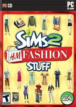 Box artwork for The Sims 2: H&M Fashion Stuff.
