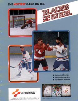 Box artwork for Blades of Steel.