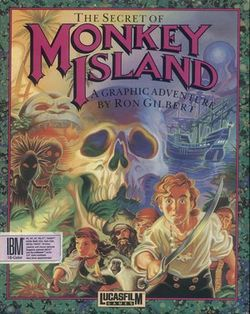 Box artwork for The Secret of Monkey Island.