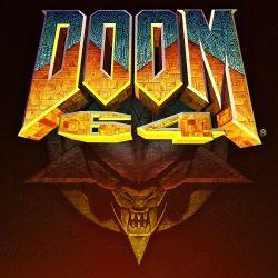 Box artwork for Doom 64.