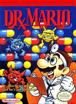 Box artwork for Dr. Mario.