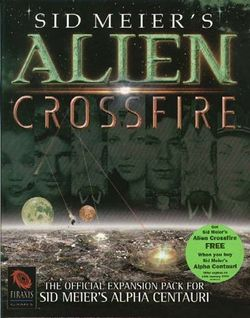 Box artwork for Sid Meier's Alien Crossfire.