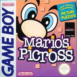 Box artwork for Mario's Picross.