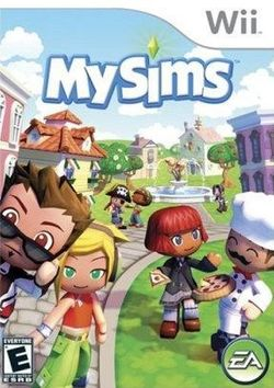 Box artwork for MySims.