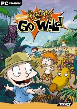 Box artwork for Rugrats Go Wild.
