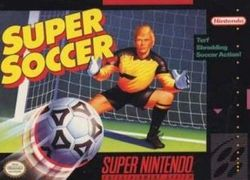 Box artwork for Super Soccer.