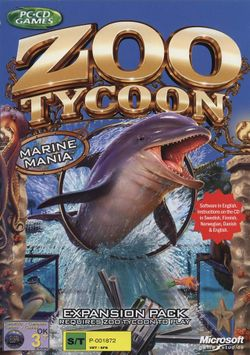 Box artwork for Zoo Tycoon: Marine Mania.