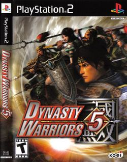 Box artwork for Dynasty Warriors 5.