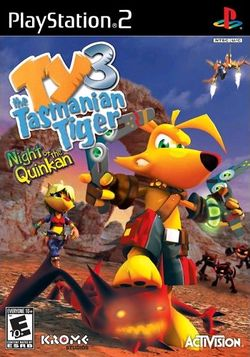 Box artwork for Ty the Tasmanian Tiger 3: Night of the Quinkan.