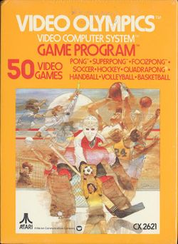 Box artwork for Video Olympics.