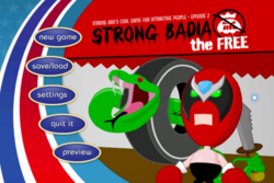 Box artwork for Strong Bad's Cool Game for Attractive People - Episode 2: Strong Badia the Free.