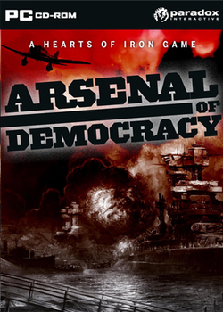 Box artwork for Arsenal of Democracy.
