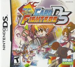 Box artwork for SNK vs. Capcom: Card Fighters DS.