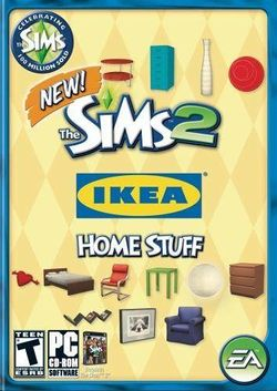 Box artwork for The Sims 2: IKEA Home Stuff.