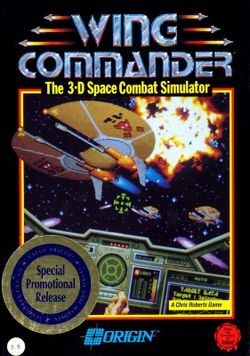 Box artwork for Wing Commander.