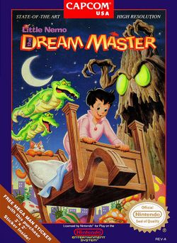 Box artwork for Little Nemo: The Dream Master.