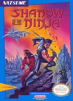 Box artwork for Shadow of the Ninja.