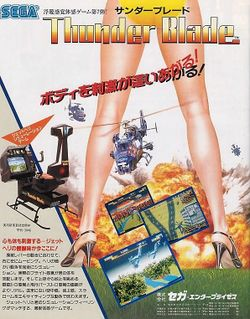 Box artwork for Thunder Blade.