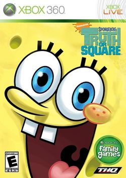 Box artwork for SpongeBob's Truth or Square.