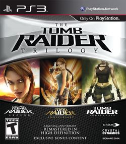 Box artwork for Tomb Raider Trilogy.