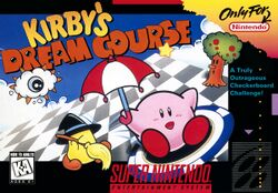 Box artwork for Kirby's Dream Course.