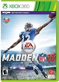 Box artwork for Madden NFL 16.