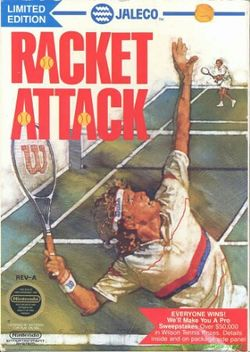 Box artwork for Racket Attack.