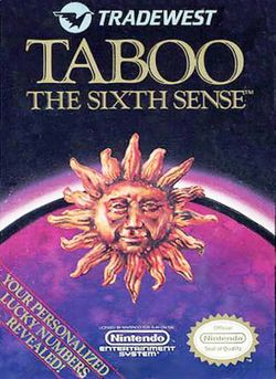 Box artwork for Taboo: The Sixth Sense.