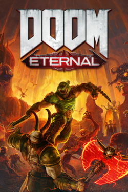 Box artwork for Doom Eternal.