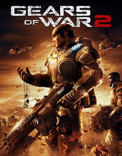 Box artwork for Gears of War 2.