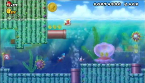 New Super Mario Bros Wii World 1 4 Strategywiki The Video Game