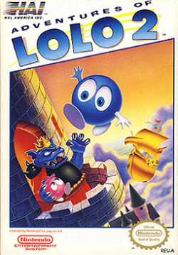 Box artwork for Adventures of Lolo 2.
