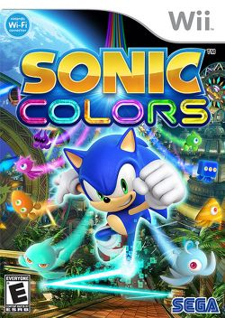 Box artwork for Sonic Colors.