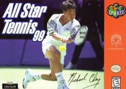 Box artwork for All-Star Tennis '99.