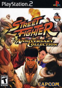 Box artwork for Street Fighter Anniversary Collection.