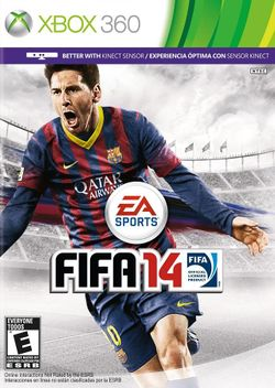 Box artwork for FIFA 14.