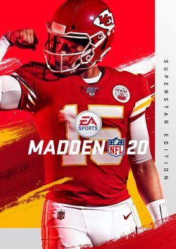 Box artwork for Madden NFL 20.