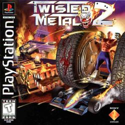 Box artwork for Twisted Metal 2.