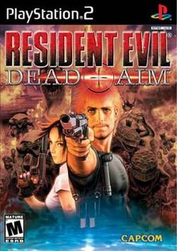 Box artwork for Resident Evil: Dead Aim.