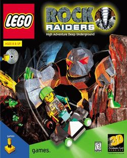 Box artwork for LEGO Rock Raiders.
