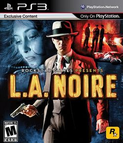 Box artwork for L.A. Noire.