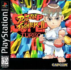 Box artwork for Super Puzzle Fighter II Turbo.