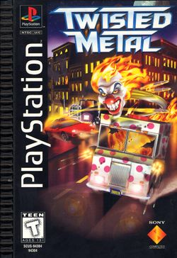 Box artwork for Twisted Metal.