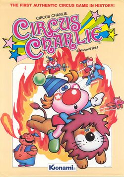 Box artwork for Circus Charlie.