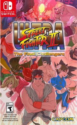Box artwork for Ultra Street Fighter II: The Final Challengers.